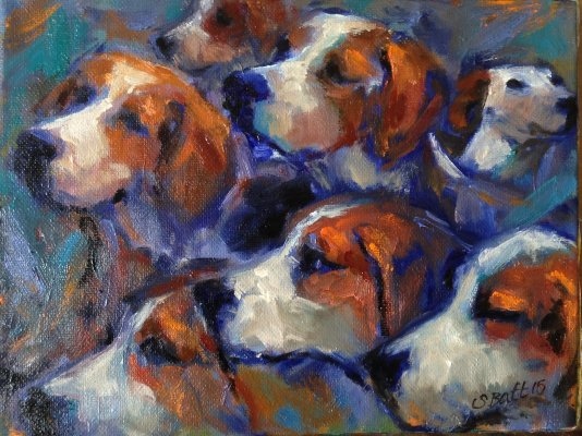 Small Hounds Head Painting Study, July 2015.JPG